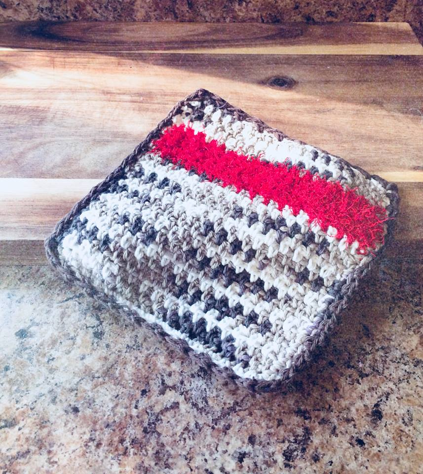 Scrubby Dishcloth Crochet Pattern